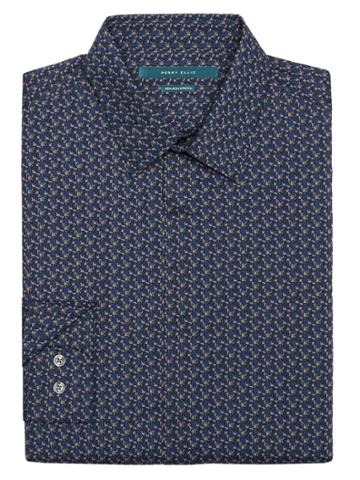 Perry Ellis Non-iron Multi-color Geo Print Shirt