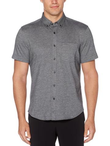 Perry Ellis Solid Knit Oxford Shirt