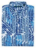 Perry Ellis Short Sleeve Leaf Print Shirt