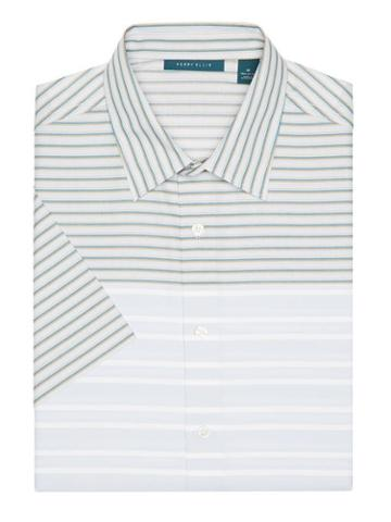 Perry Ellis Short Sleeve Two Toned Striped Shirt
