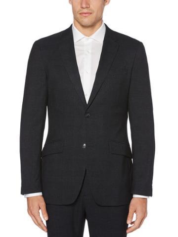 Perry Ellis Very Slim Fit Heathered Plaid Jacket