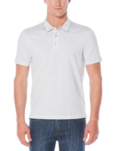 Perry Ellis Big And Tall Short Sleeve Scribble Printed Polo