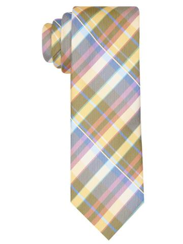 Perry Ellis Classic Multi-color Plaid Tie