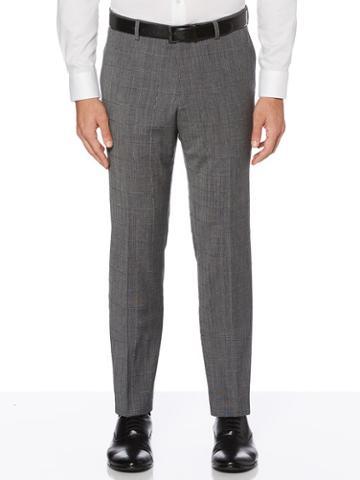 Perry Ellis Slim Fit Stretch Wool Plaid Suit Pant