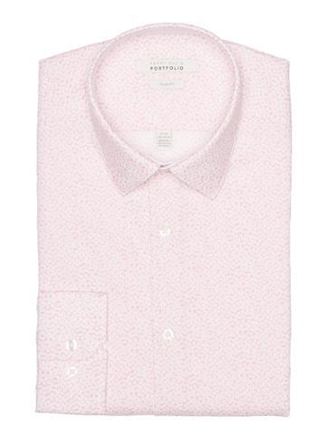 Perry Ellis Slim Fit Rose Floral Dress Shirt