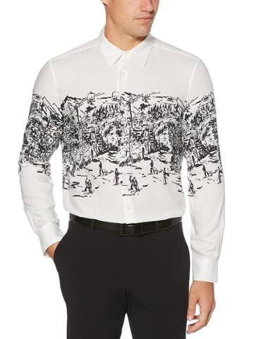 Perry Ellis Ski Print Shirt