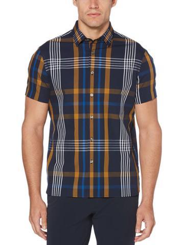 Perry Ellis Oversized Plaid Shirt