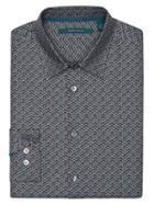 Perry Ellis Herringbone Print Shirt