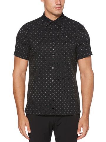 Perry Ellis Slim Fit Arrowhead Print Stretch Shirt