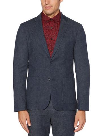 Perry Ellis Slim Fit Stretch Linen Suit Jacket