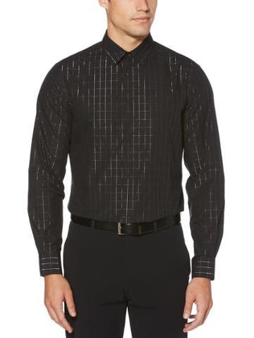 Perry Ellis Slim Fit Metallic Check Shirt