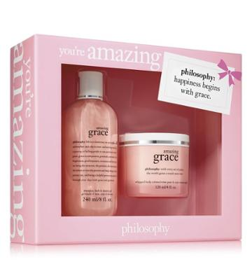 Philosophy Amazing Grace Shampoo, Bath & Shower Gel 8 Oz. And Amazing Grace Whipp