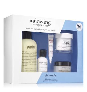Philosophy Cleanse, Peel & Glow Kit For The First Signs Of Aging,a Glowing Regime