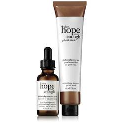 Philosophy Daily Facial Firming Serum & Replenishing Leave-on Gel-oil Mask,when Hope Is Not Enough Day Serum And Mask