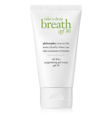 Philosophy Oil-free Oxygenating Gel Cream,take A Deep Breath Spf 30