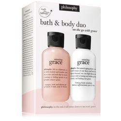 Philosophy Amazing Grace Firming Body Emulsion 2 Oz. And Shampoo, Bath & Shower Gel 2 Oz.,on The Go With Grace