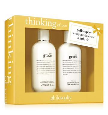 Philosophy Pure Grace Shampoo, Bath & Shower Gel 8 Oz. And Pure Grace Body Lotion
