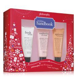 Philosophy Raspberries And Cream Hand Cream, Fresh Cream Hand Cream And Apricots And Cream Hand Cream 1 Oz.,holiday Handbook