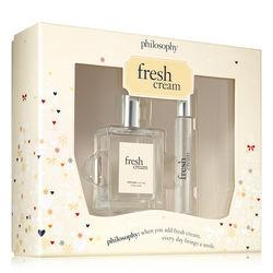 Philosophy Fresh Cream Spray Fragrance 2 Oz. And Fresh Cream Eau De Toilette Rollerball 0.33 Oz.,fresh Cream Edt Set