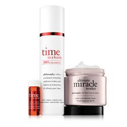 Philosophy Time In A Bottle Daily Age-defying Serum And Ultimate Miracle Worker Moisturizer,better Together: Time Duo