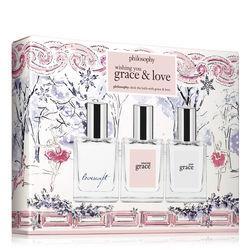 Philosophy Loveswept, Amazing Grace, And Pure Grace Fragrance,wishing You Grace Set