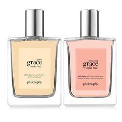 Philosophy Spray Fragrance Duo,amazing Grace Ballet Rose + Pure Grace Nude Rose Fragrance Duo