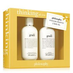 Philosophy Pure Grace Shampoo, Bath & Shower Gel 8 Oz. And Pure Grace Body Lotion 8 Oz.,thinking Of You