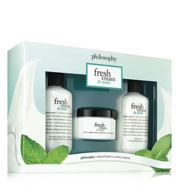 Philosophy Souffle, Shower Gel & Body Lotion,fresh Cream & Mint Trio