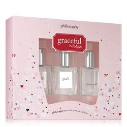 Philosophy .5 Oz Amazing Grace, Pure Grace, & Loveswept,holiday Fragrance Coffret