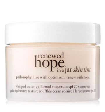 Philosophy 1 Oz. Skin Tint Spf 20 Sunscreen,renewed Hope In A Jar Skin Tint