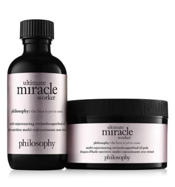 Philosophy Multi-rejuvenating Retinol+superfood Oil And Pads,ultimate Miracle Wor