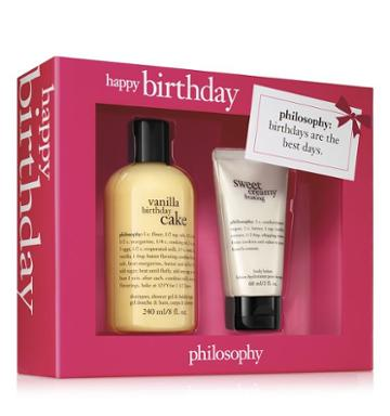 Philosophy Vanilla Birthday Cake Shampoo, Bath & Shower Gel 8 Oz. And Sweet Cream