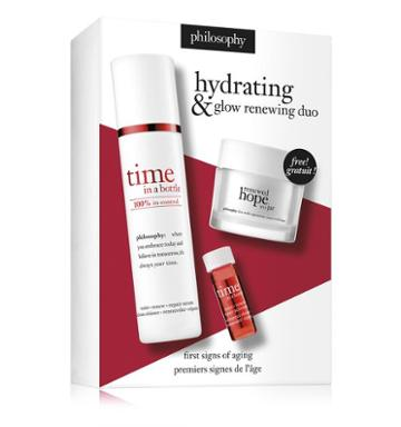 Philosophy Time In A Bottle Daily Age-defying Serum And Renewed Hope In A Jar,tim