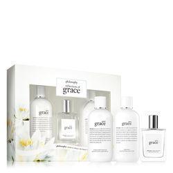 Philosophy Pure Grace Shampoo, Bath & Shower Gel, Eau De Toilette & Body Lotion,reflections Of Grace Mother's Day Set