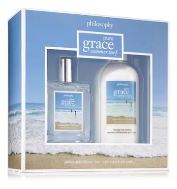 Philosophy Firming Body Emulsion And Spray Fragrance,pure Grace Summer Surf Gift