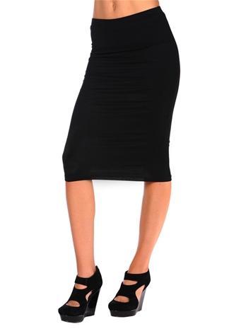 Costa Blanca Jersey Pencil Skirt
