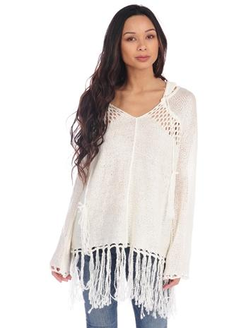 Vintage Havana Anchor Fringe Sweater