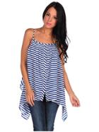 Costa Blanca Striped Oversized Tank