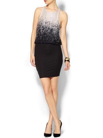 Lanston Womens Cross Back Mini Dress Size L - Bleeker Print
