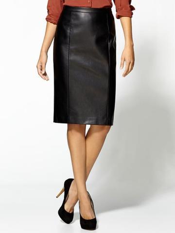 Tinley Road Vegan Leather Pencil Skirt