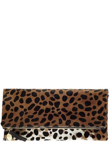Clare V Foldover Clutch - Leopard