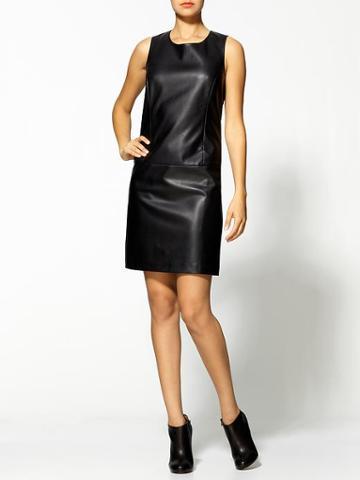 Tinley Road Vegan Leather Shift Dress