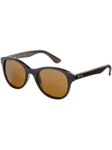 Ray-ban Round Sunglasses - Shiny Brown Frame