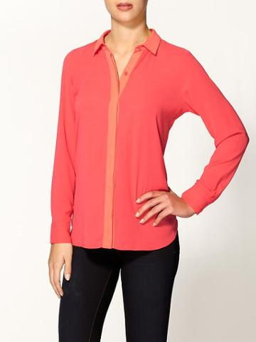 Tinley Road Colorblock Pleated Blouse