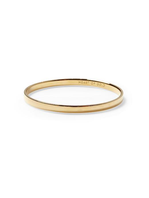 Kate Spade Heart Of Gold Idiom Bangle Bracelet  - Gold