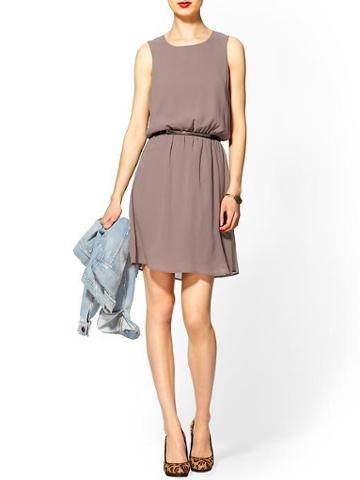 Tinley Road Tinley Road Belted Tank Dress - Taupe