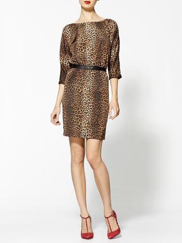 Michael Kors Persian Leopard Print Dress