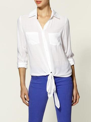 Tinley Road White Front Sheer Top