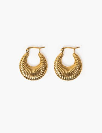 Pixie Market Gold Plated Shell Hoops