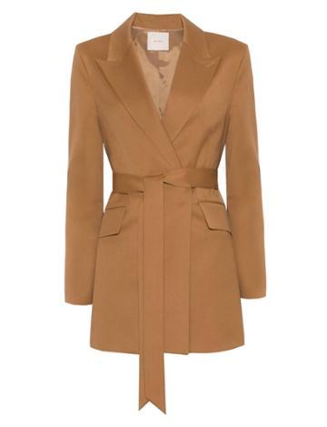 Pixie Market Wrap Brown Belted Blazer